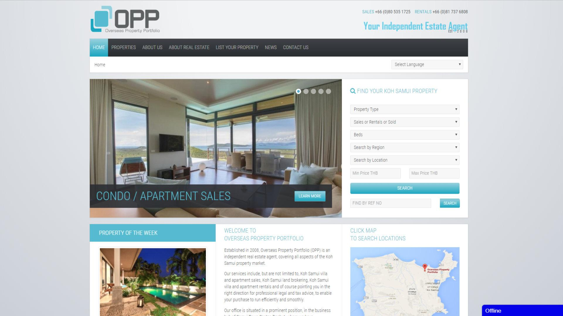 OPP, Koh Samui, Customizing IProperty, Joomla Update, Template Anpassung, Programmierung PHP